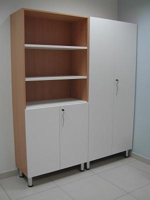 Armadio contenitore su misura for Armadio ufficio bianco