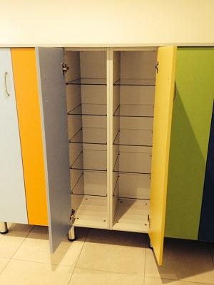 Mobile portascarpe ad ante battenti colorate e234f6d9c72